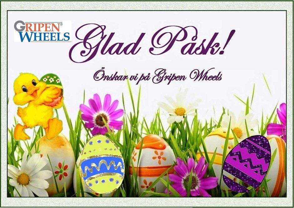 Glad Påsk önskar vi på Gripen Wheels!