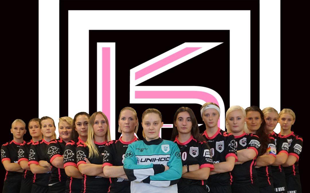 Kävlinge AIKs daminnebandylag, sponsrat av Gripen Wheels, vinner säsongssegern och avancerar till division 2.