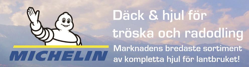 Kampanj på Michelindäck & hjul för tröska och radodling!