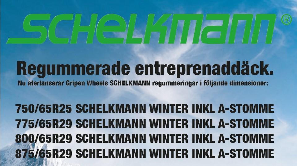 Gripen Wheels återlanserar SCHELKMANN WINTER – Regummerade entreprenaddäck