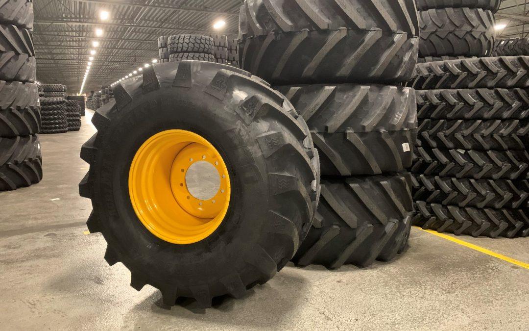 En leverans av BKT AGRIMAX TERIS till Lantmännen Maskin AB i Tomelilla.