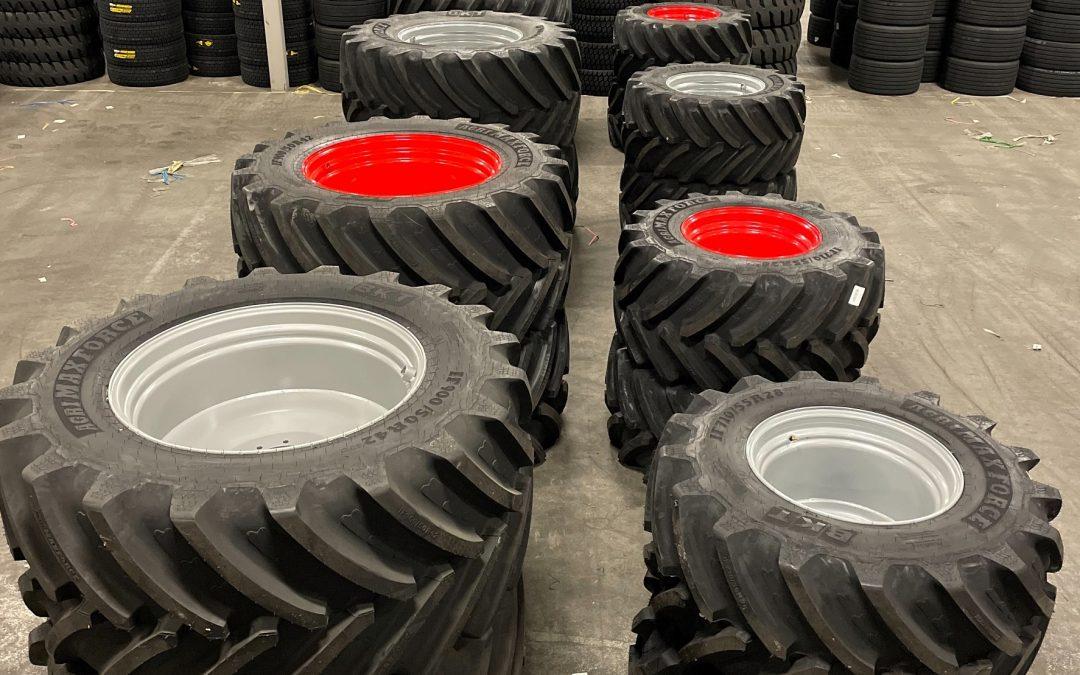 Leverans av kompletta hjul med BKT AGRIMAX FORCE
