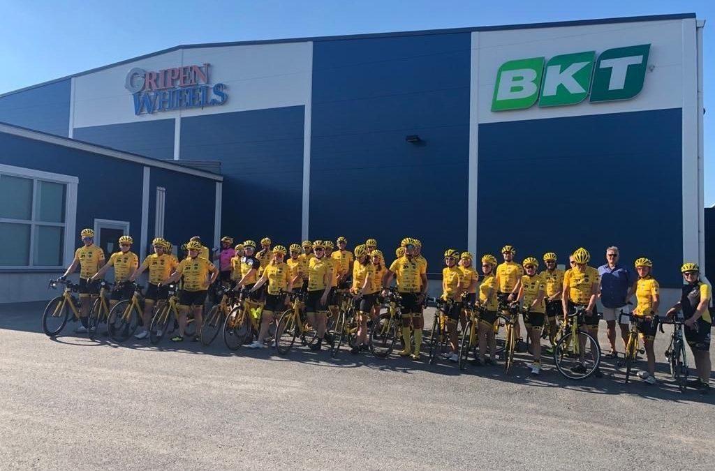 Team Rynkeby Ostrbothnia cyklade för att stötta cancersjuka barn – Gripen Wheels sponsrar självklart!