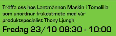Däcktema hos Lantmännen Maskin i Tomelilla fredagen den 23 oktober.